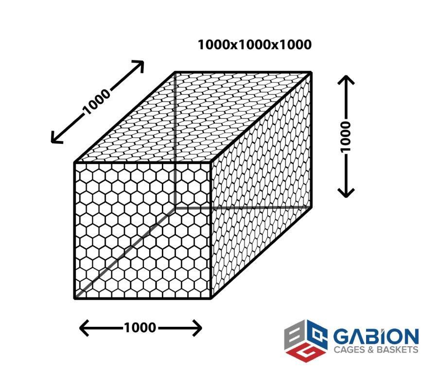 gabion basket cube box